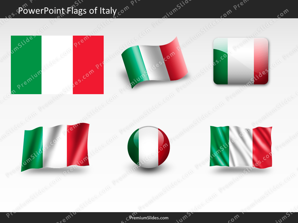 Free Italy Flag PowerPoint Template