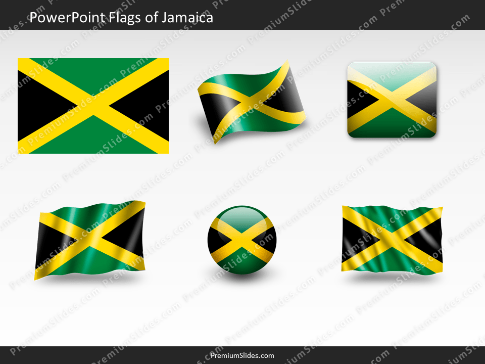 Free Jamaica Flag PowerPoint Template