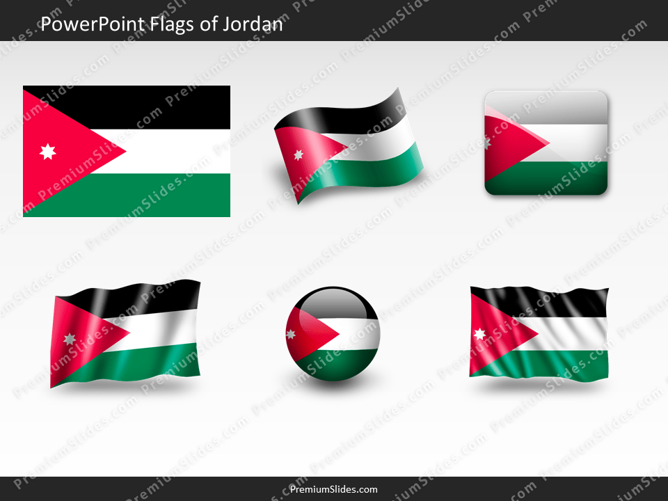 Free Jordan Flag PowerPoint Template
