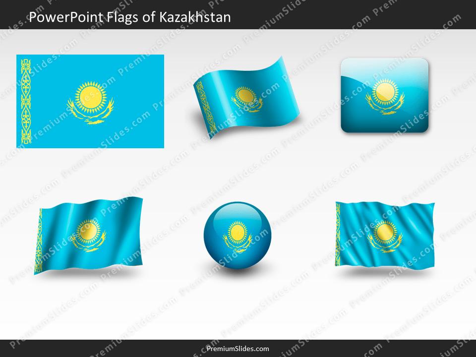 Free Kazakhstan Flag PowerPoint Template