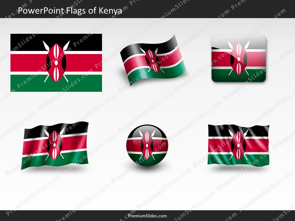 Free Kenya Flag PowerPoint Template