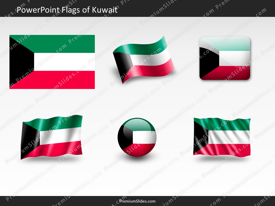 Free Kuwait Flag PowerPoint Template