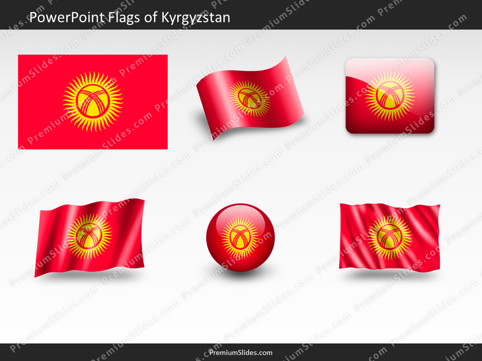Free Kyrgyzstan Flag PowerPoint Template