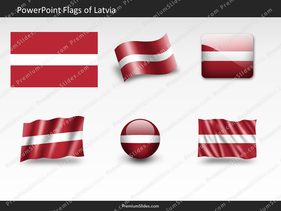 Free Latvia Flag PowerPoint Template