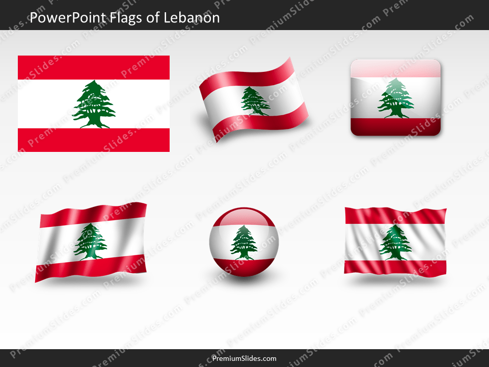 Free Lebanon Flag PowerPoint Template