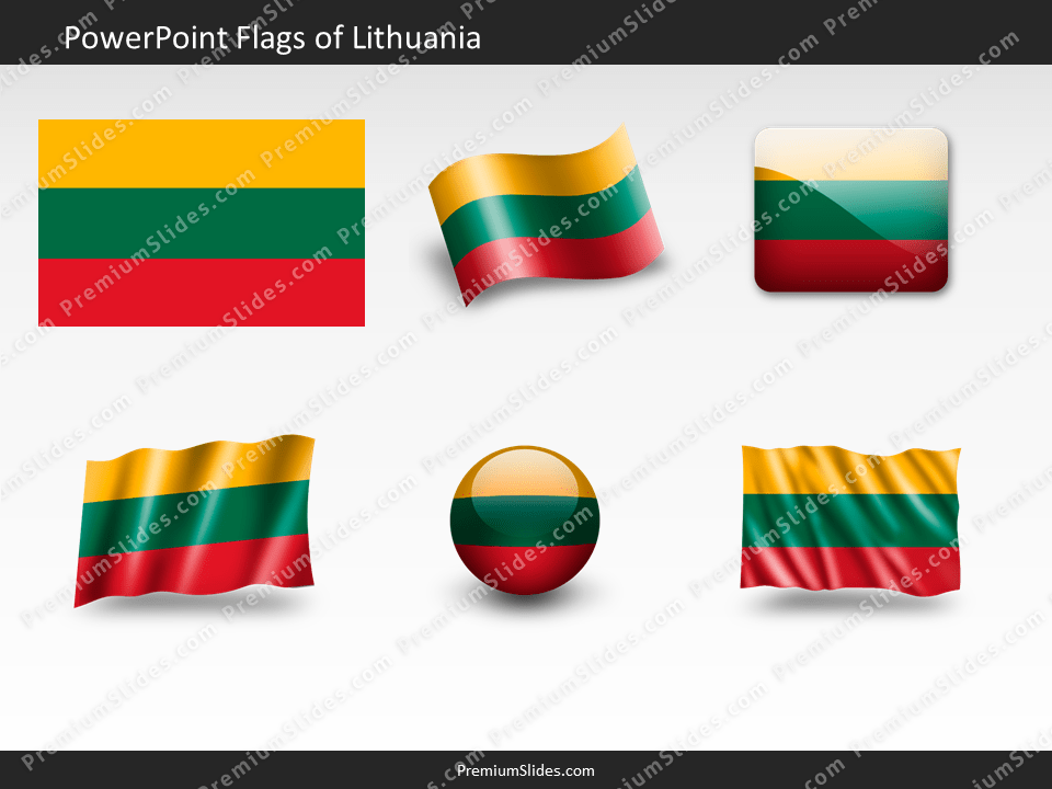 Free Lithuania Flag PowerPoint Template