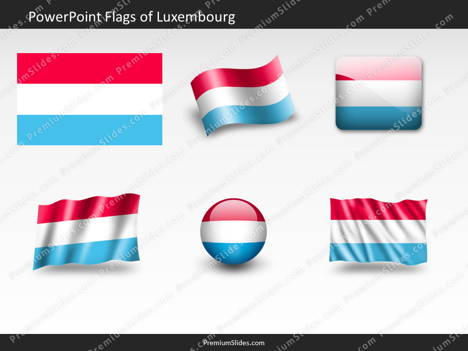 Free Luxembourg Flag PowerPoint Template