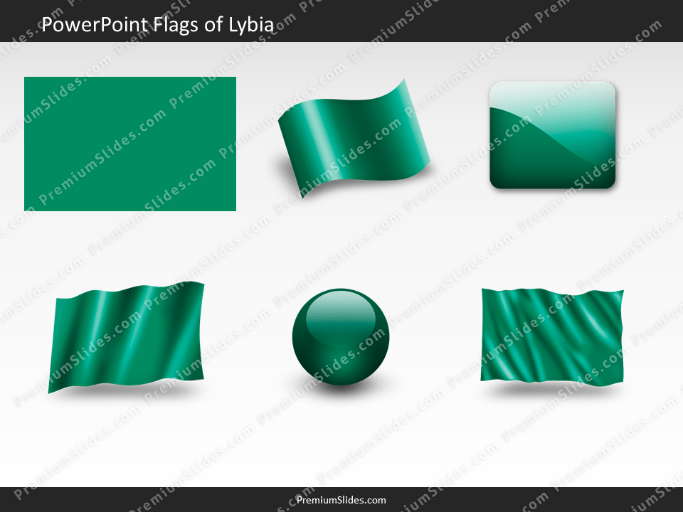 Free Lybia Flag PowerPoint Template