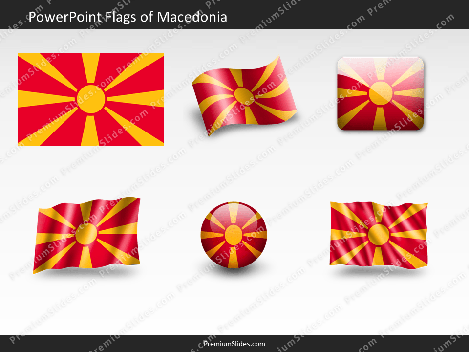Free Macedonia Flag PowerPoint Template