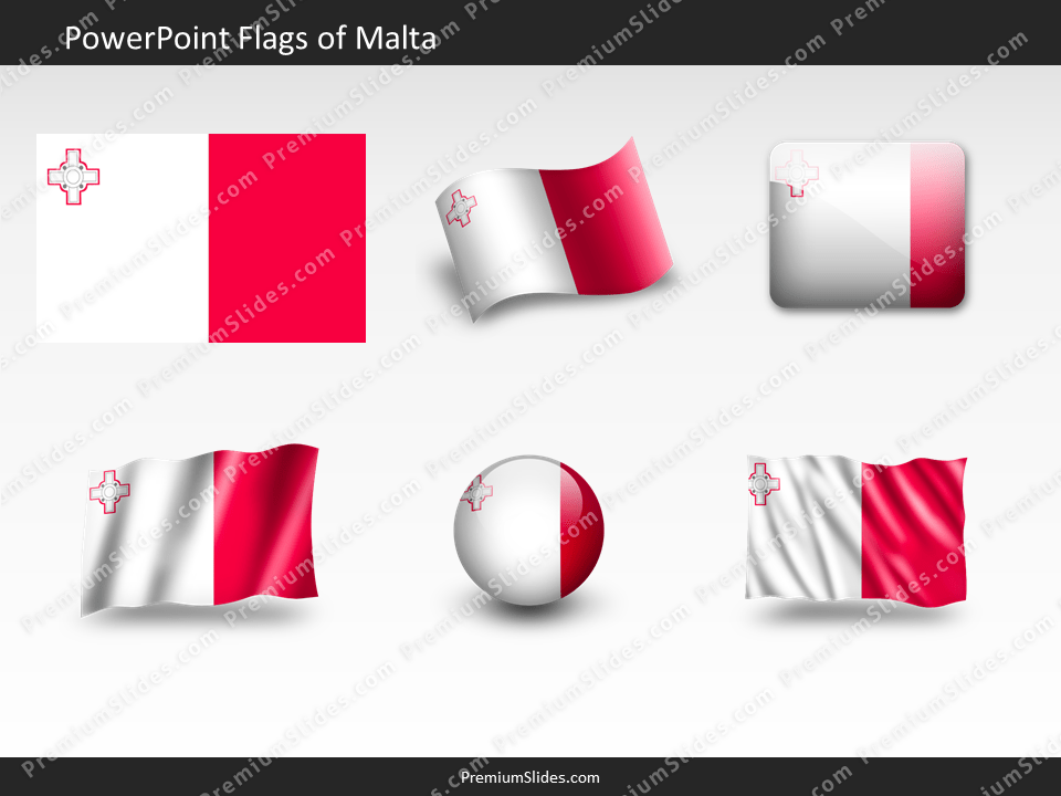 Free Malta Flag PowerPoint Template