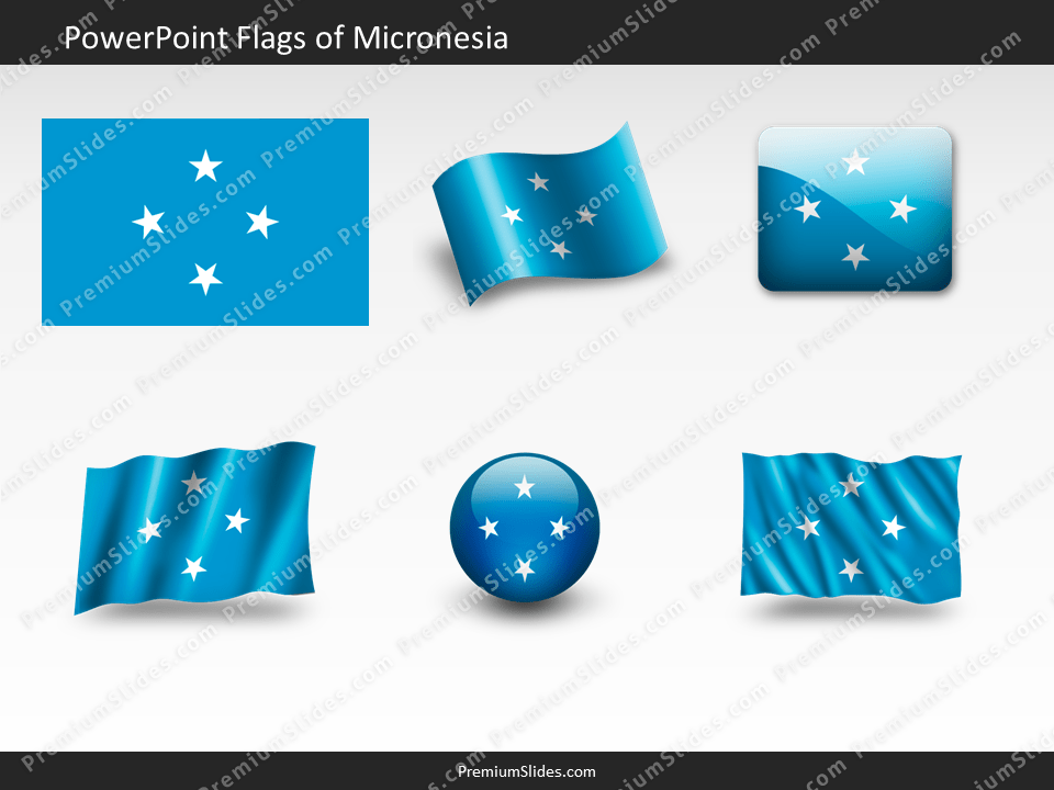 Free Micronesia Flag PowerPoint Template