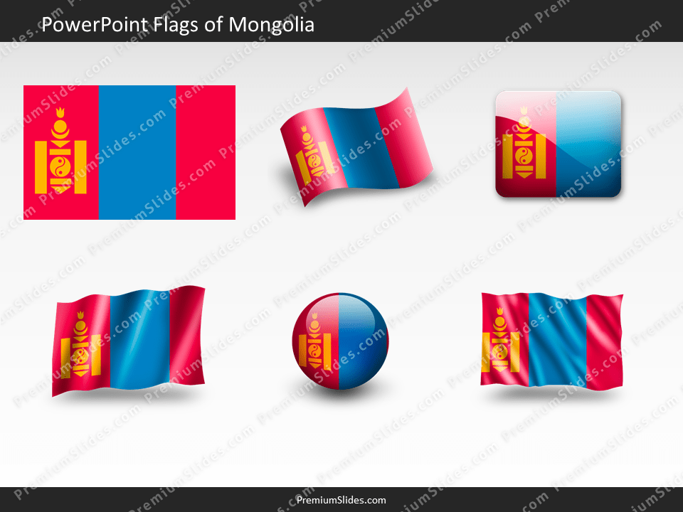 Free Mongolia Flag PowerPoint Template