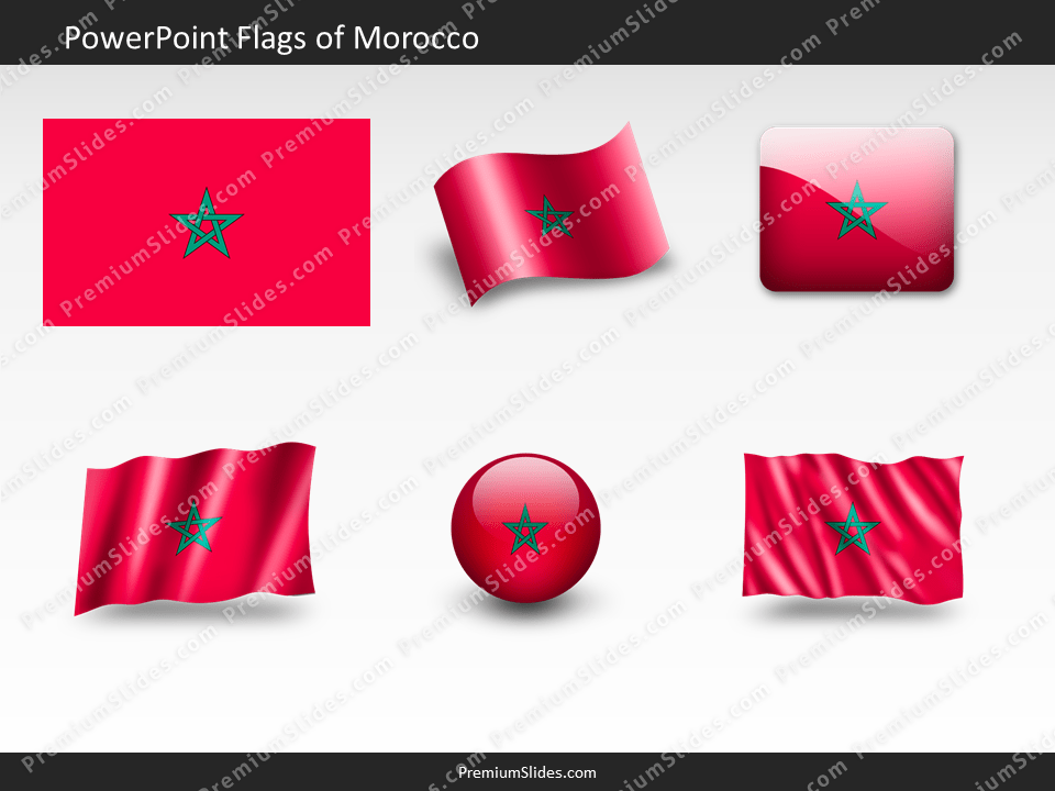 Free Morocco Flag PowerPoint Template