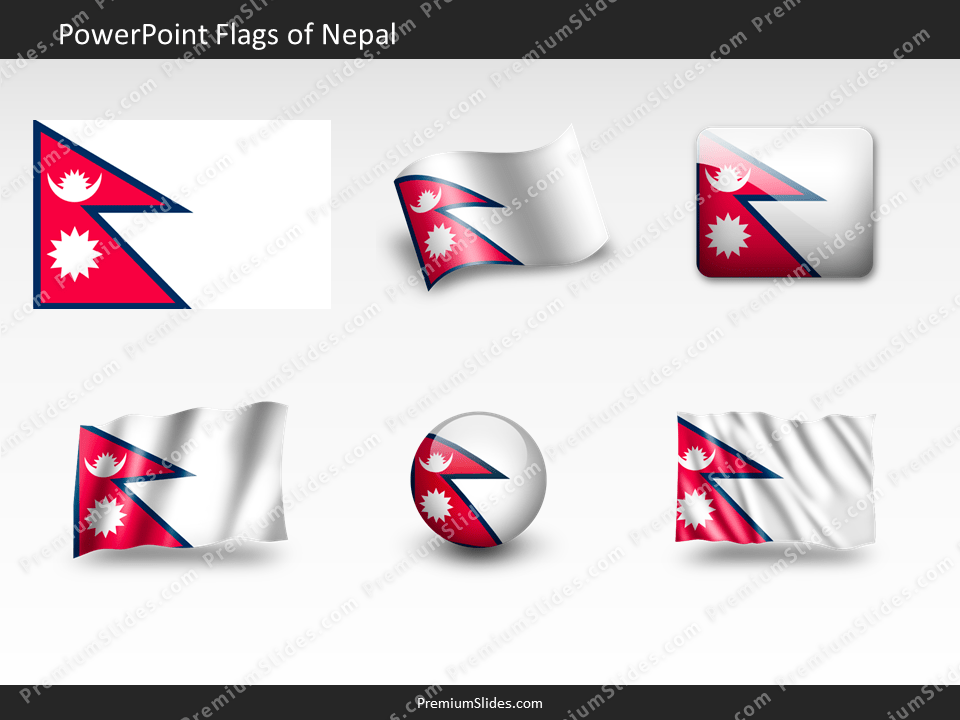 Free Nepal Flag PowerPoint Template