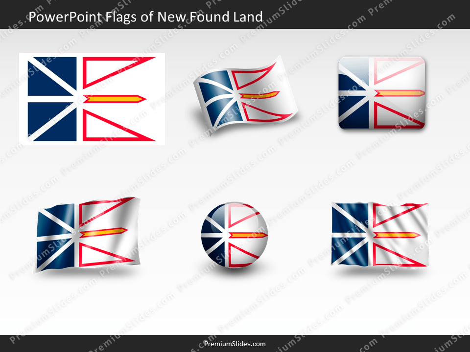Free New-Found-Land Flag PowerPoint Template