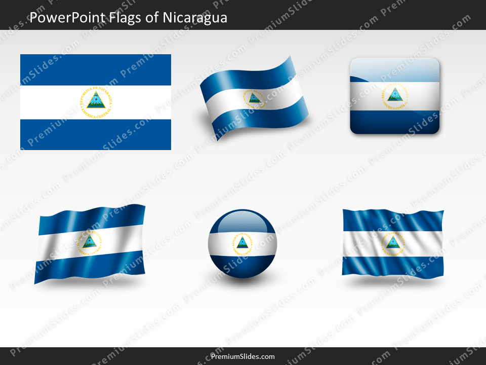 Free Nicaragua Flag PowerPoint Template