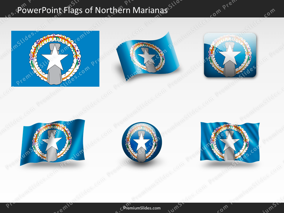 Free Northern Marianas Flag PowerPoint Template