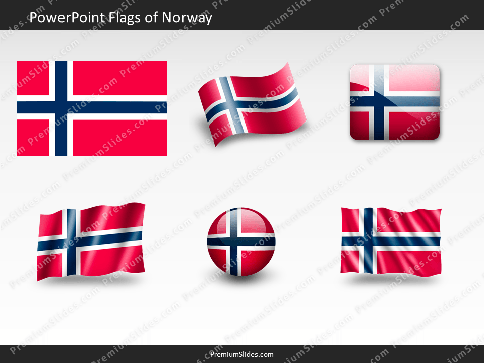 Free Norway Flag PowerPoint Template