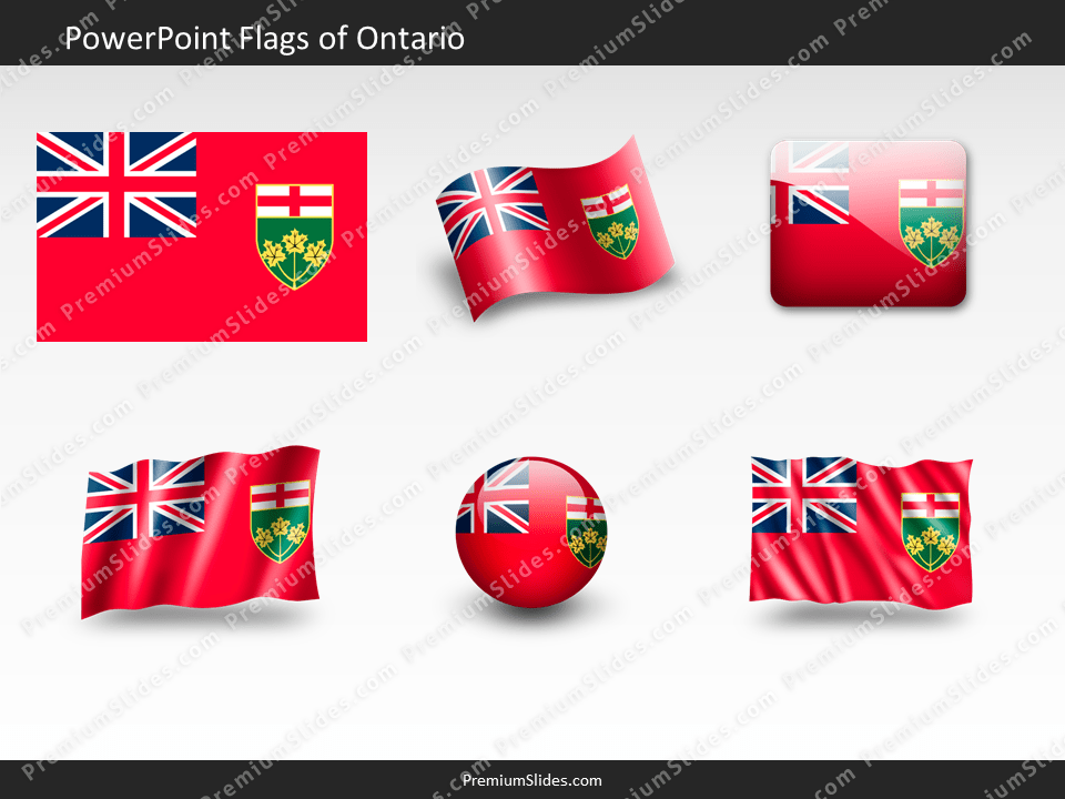 Free Ontario Flag PowerPoint Template