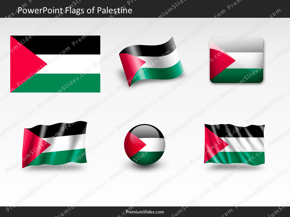 Free Palestine Flag PowerPoint Template