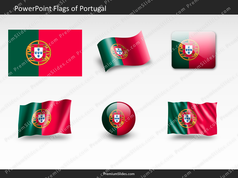 Free Portugal Flag PowerPoint Template