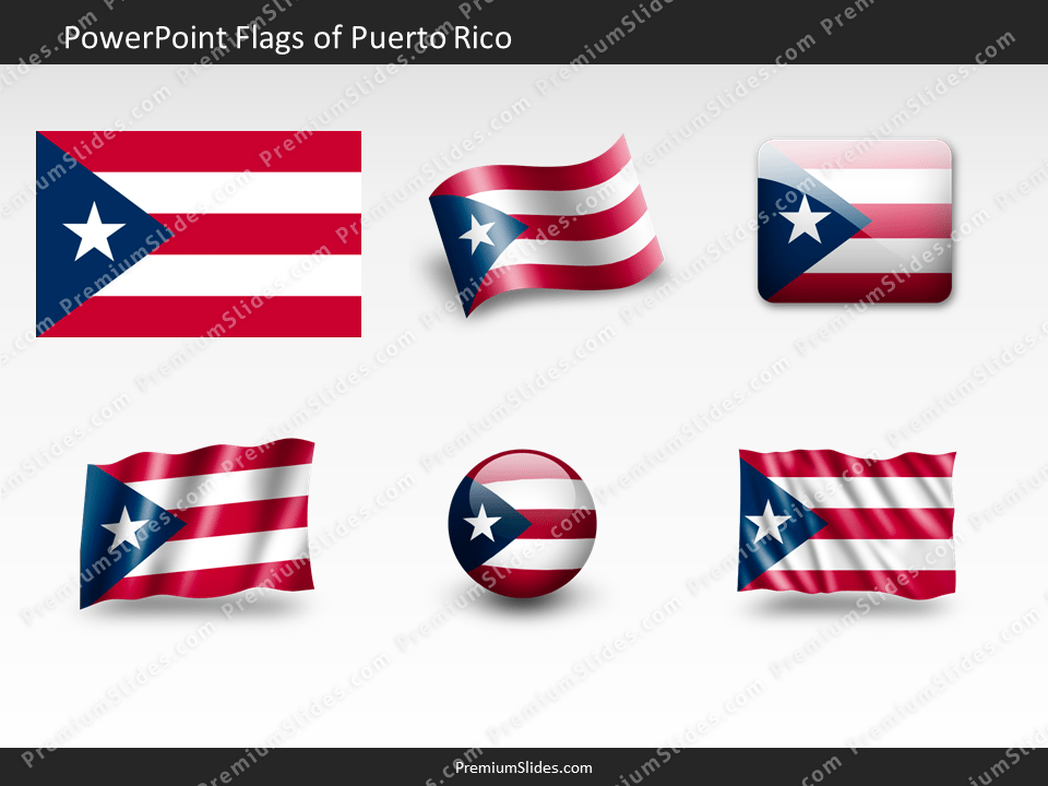 Free Puerto-Rico Flag PowerPoint Template