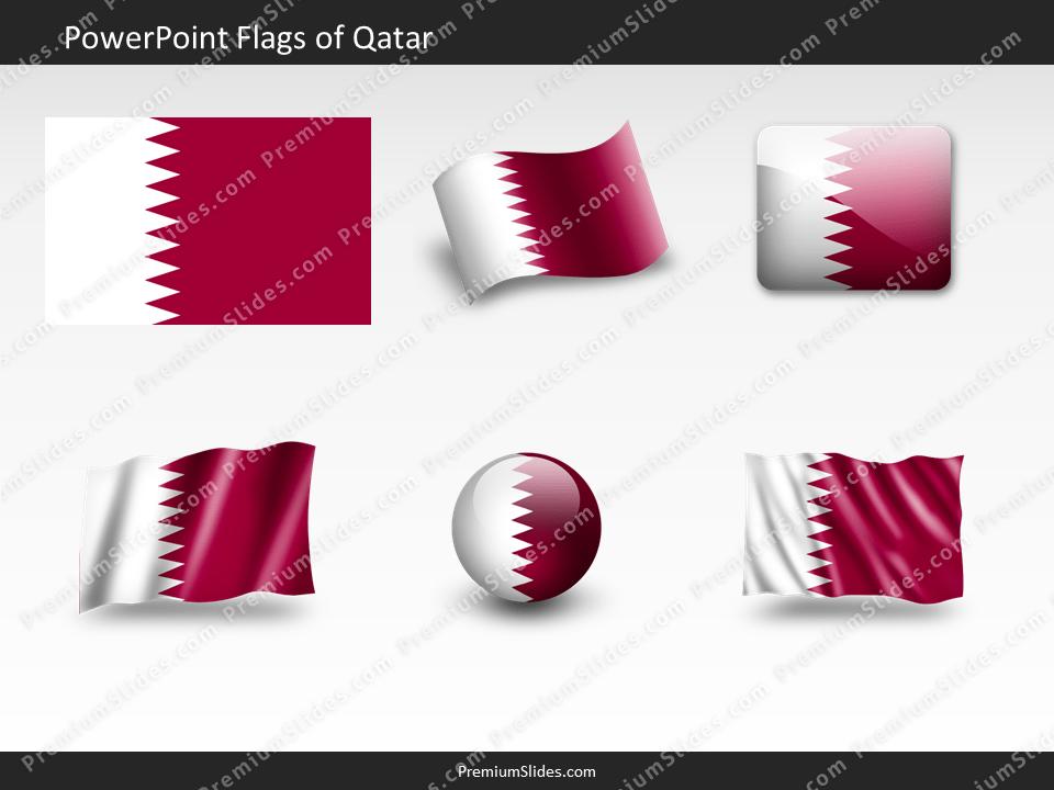 Free Qatar Flag PowerPoint Template