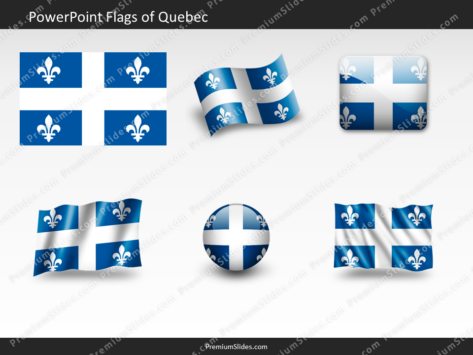 Free Quebec Flag PowerPoint Template