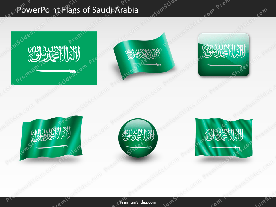 Free Saudi-Arabia Flag PowerPoint Template
