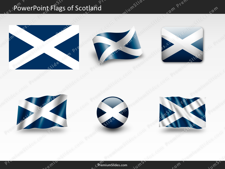 Free Scotland Flag PowerPoint Template