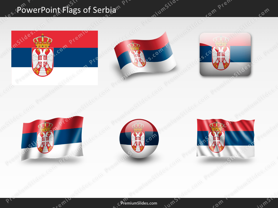 Free Serbia Flag PowerPoint Template