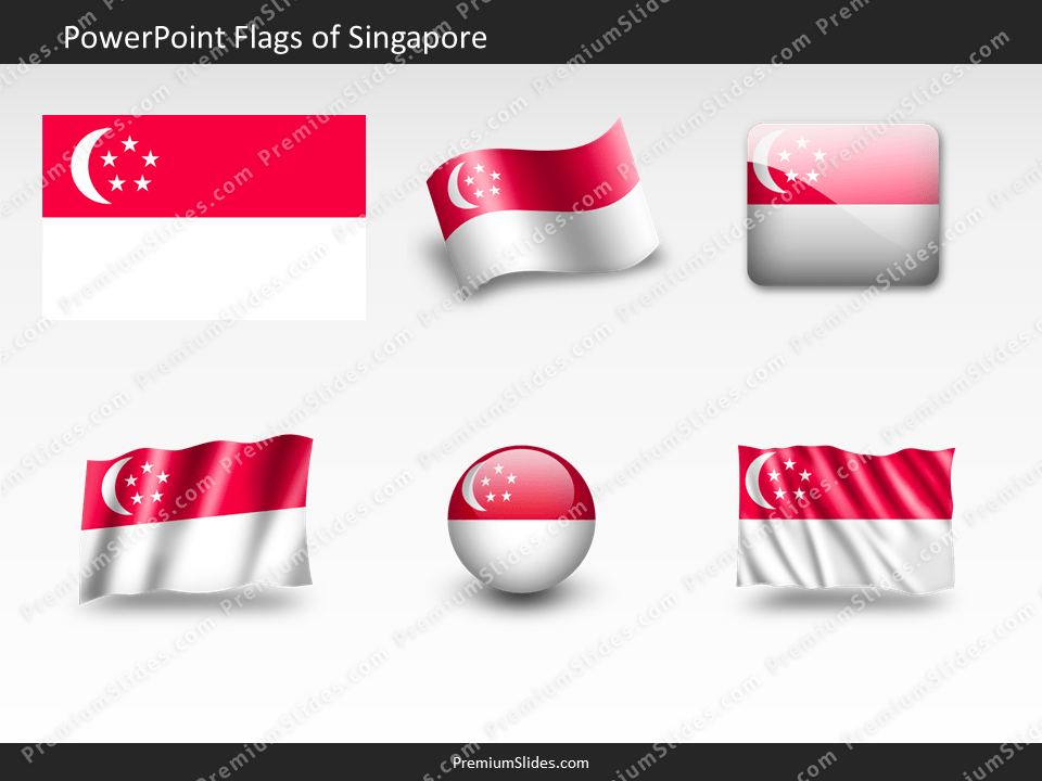 Free Singapore Flag PowerPoint Template
