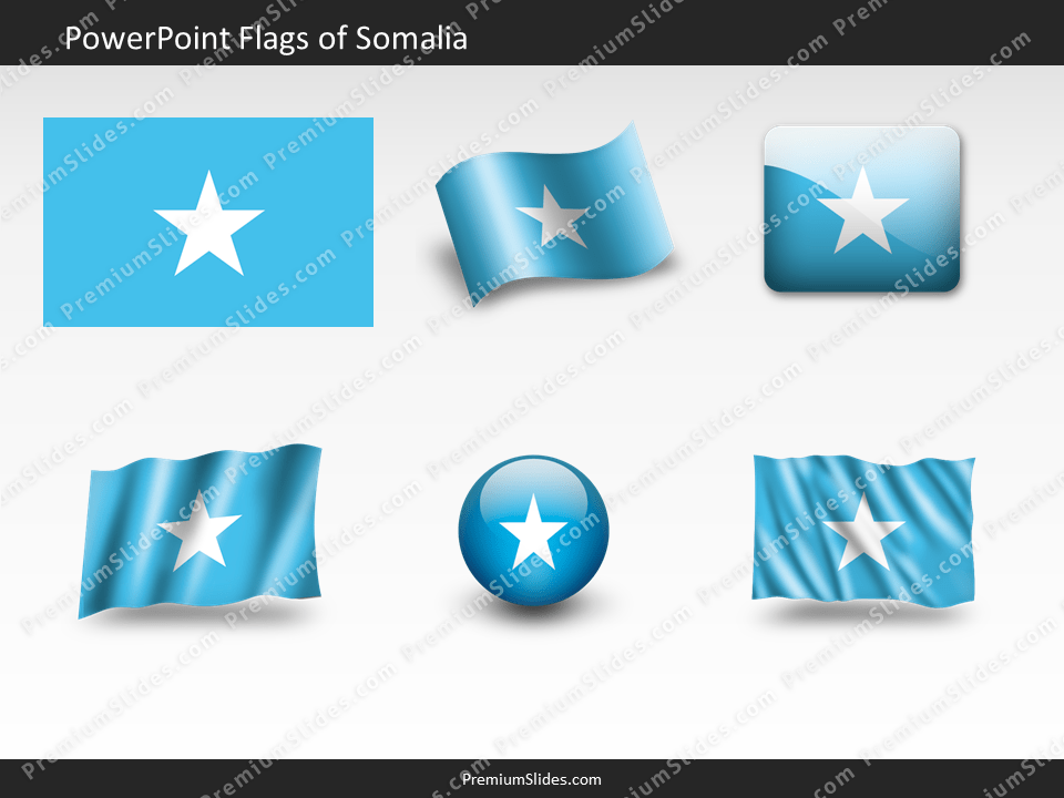 Free Somalia Flag PowerPoint Template