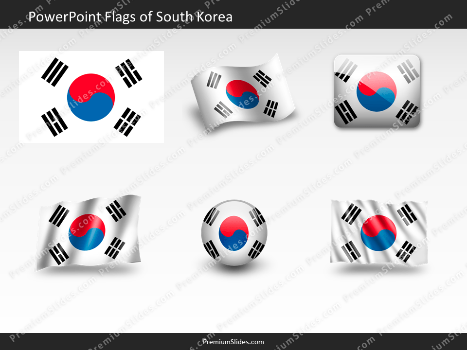 Free South-Korea Flag PowerPoint Template