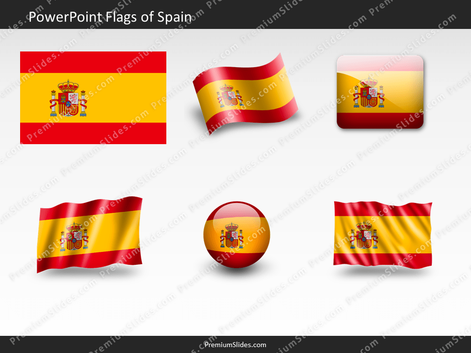 Free Spain Flag PowerPoint Template