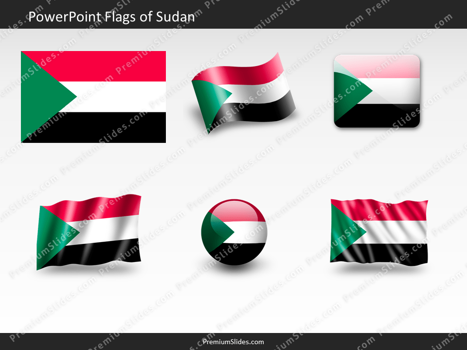 Free Sudan Flag PowerPoint Template