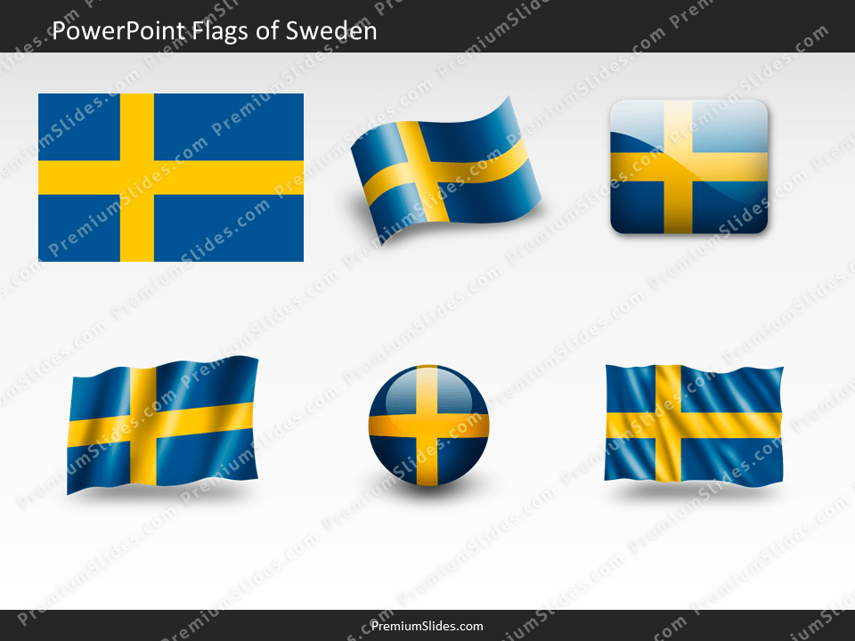 Free Sweden Flag PowerPoint Template