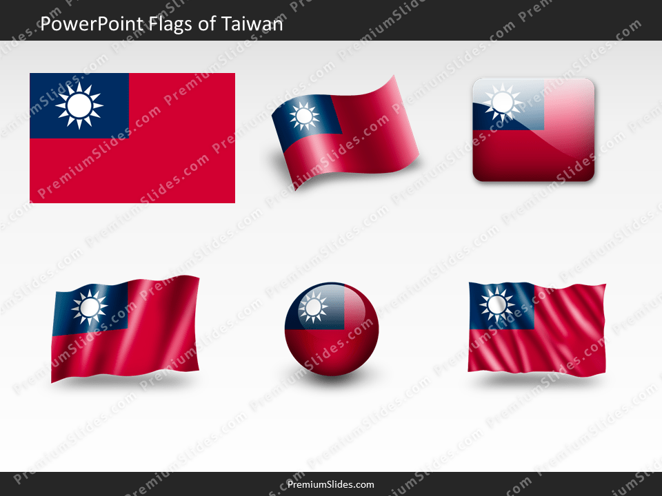 Free Taiwan Flag PowerPoint Template