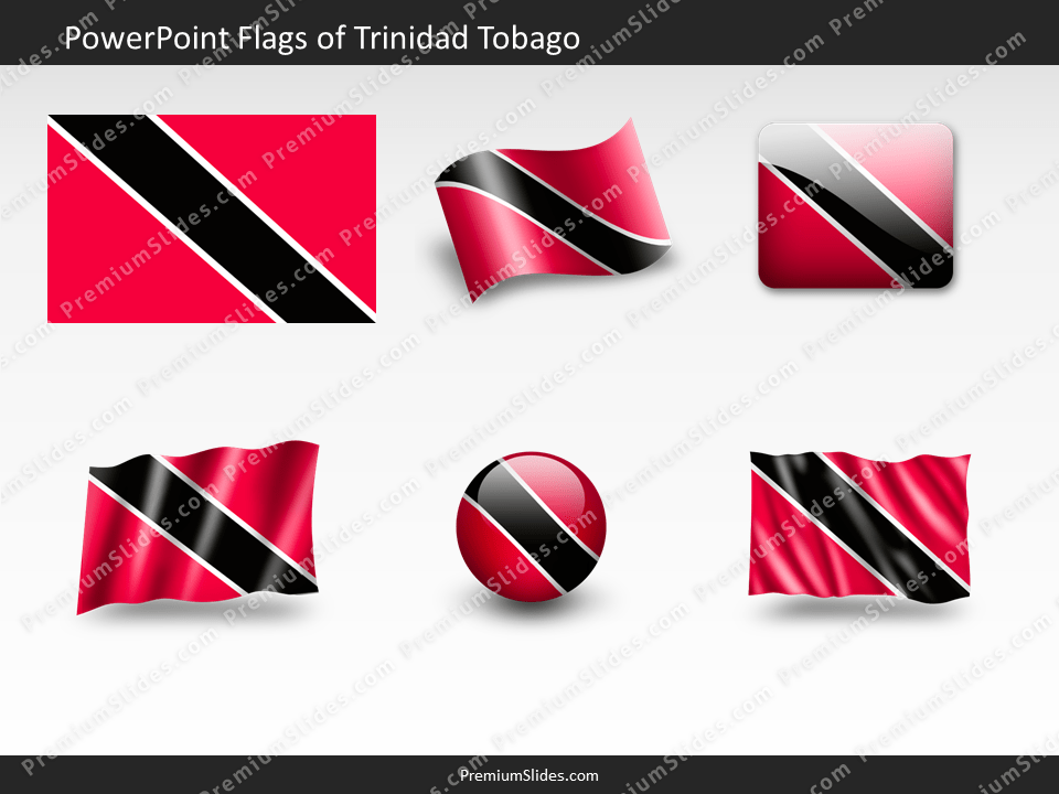 Free Trinidad-Tobago Flag PowerPoint Template