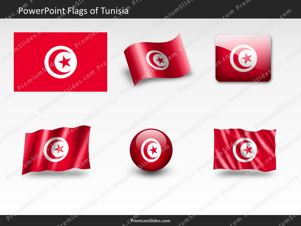 Free Tunisia Flag PowerPoint Template