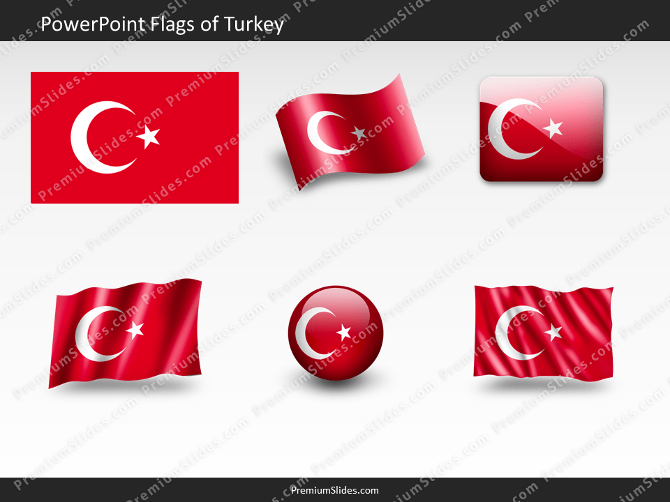 Free Turkey Flag PowerPoint Template