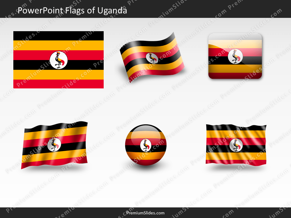 Free Uganda Flag PowerPoint Template