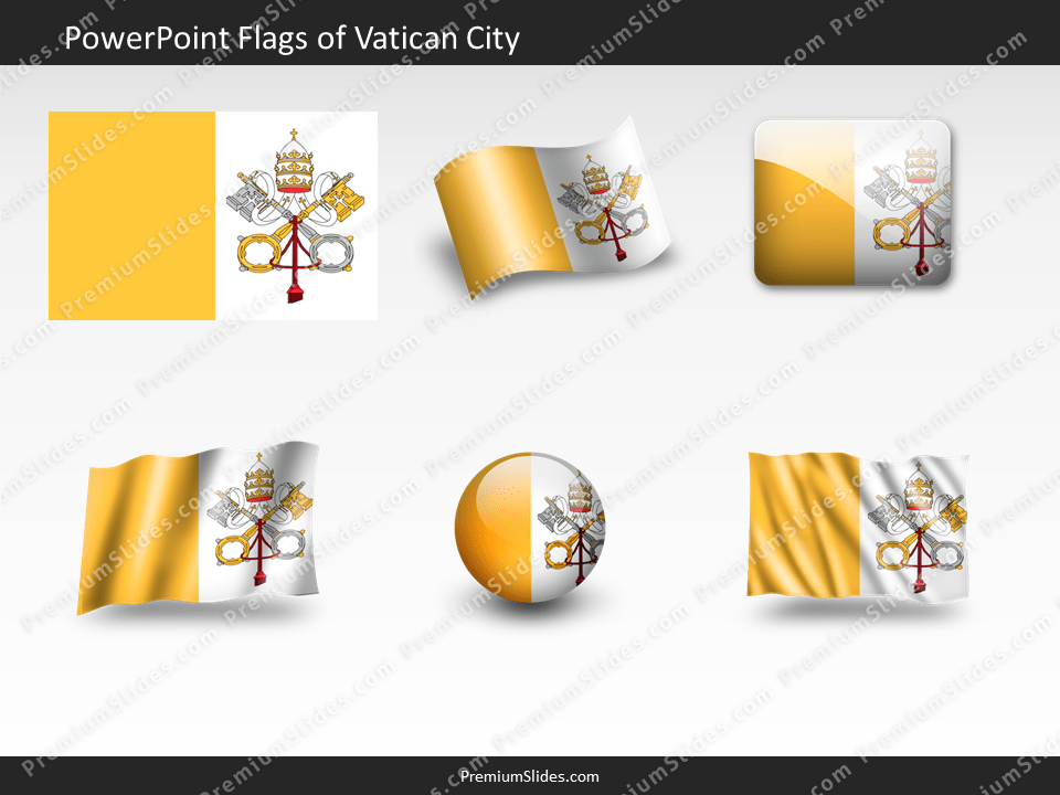 Free Vatican-City Flag PowerPoint Template