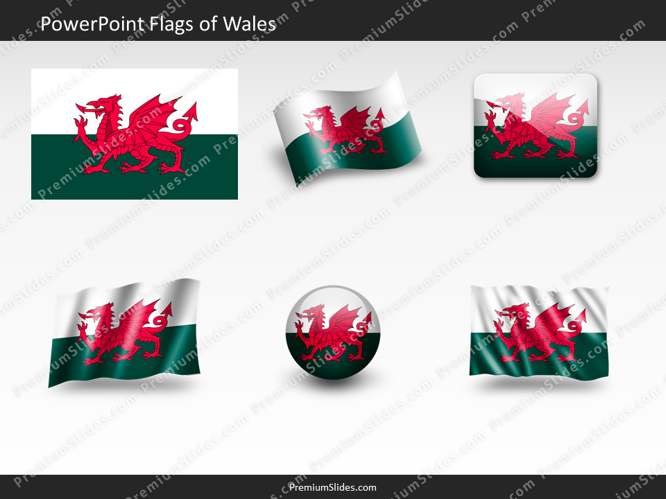 Free Wales Flag PowerPoint Template