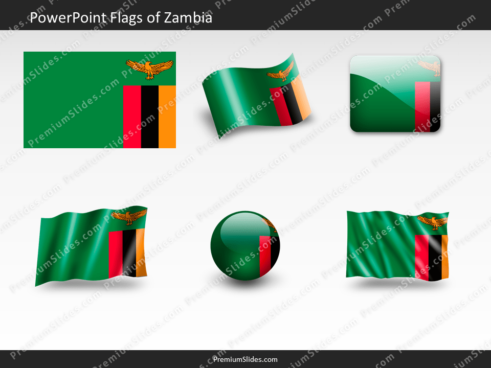 Free Zambia Flag PowerPoint Template