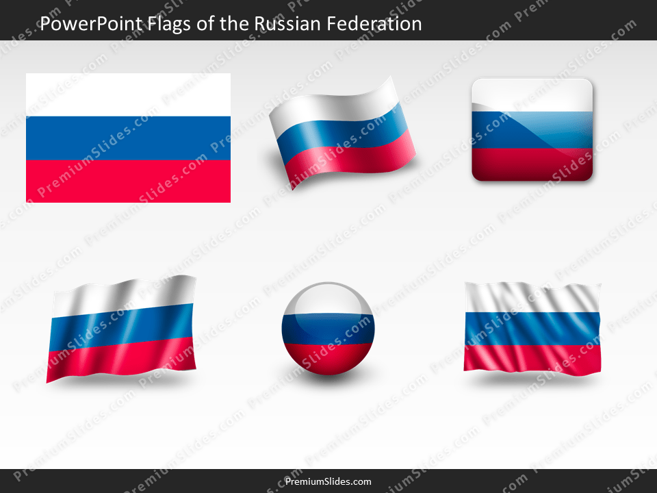 Free the-Russian-Federation Flag PowerPoint Template