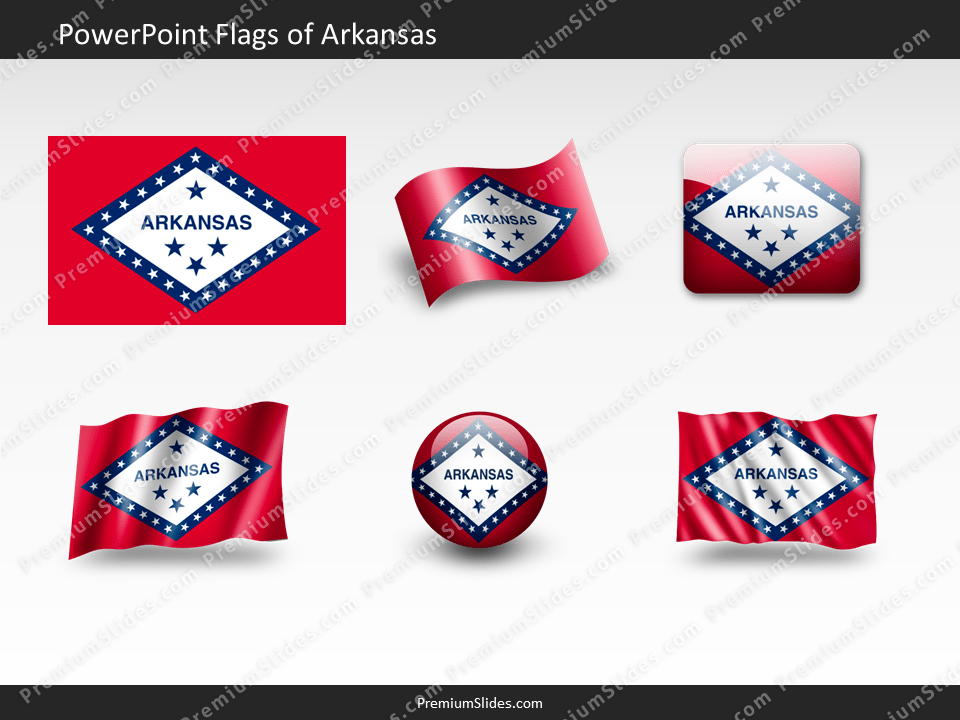 Free Arkansas Flag PowerPoint Template