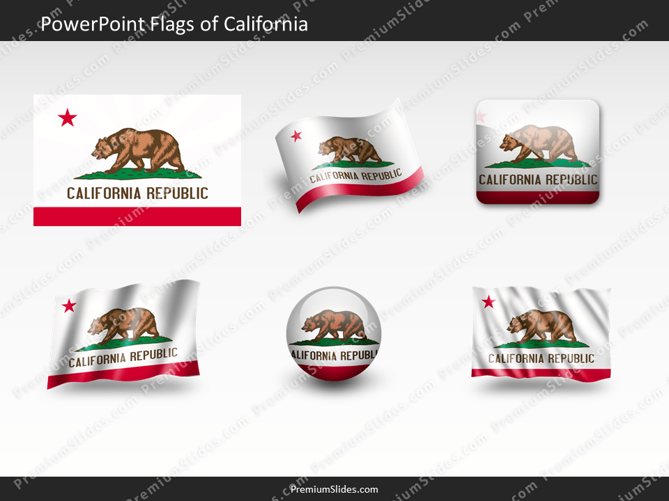 Free California Flag PowerPoint Template