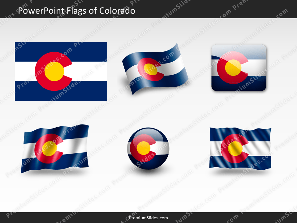 Free Colorado Flag PowerPoint Template