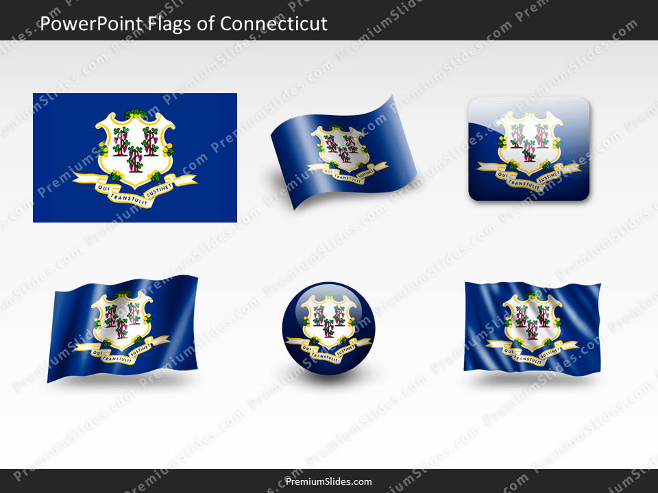Free Connecticut Flag PowerPoint Template